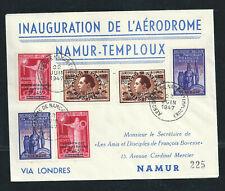 1947 Inauguration de l'Aérodrome Namur - Temploux, Bovesse sur enveloppe Nr225