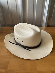 Vtg Resistol 10X Shantung Cowboy Hat Western Size 7 3/4 Long Oval Cattleman NOS