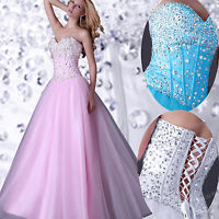 Plus Size Long Bridesmaid Formal Gown Ball Party Cocktail Evening Prom Dress