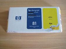 HP n° 81 C4953A jaune - original - pour traceur séries 5000 - expirée