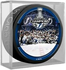 Tampa Bay Lightning 2020 Stanley Cup Team Photo Hockey Puck in Display Cube