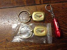 Chevrolet Corvette 50th Anniversary Key Chain Set W/Bowtie Flashlight Key Ring