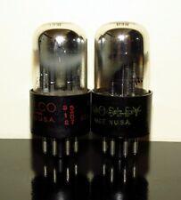 Matched Pair (2) Sylvania 6SN7GTA/ECC32 Chrome Dome tubes - 1953 - Test NOS