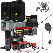 Focusrite Scarlett 2i2 Studio Recording Bundle with Pro Tools Behringer Speakers