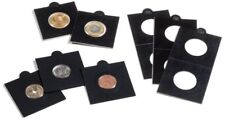 25 BLACK LIGHTHOUSE 27*5mm SELF ADHESIVE 2x2 COIN HOLDERS - Suit Half Penny & $1
