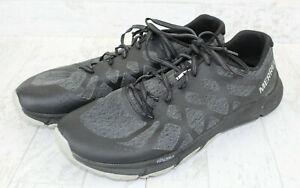 Merrell Bare Access Flex 2 Running Shoes Men's US Size 10.5 Black Gray Charcoal