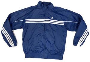 Adidas Full Zip Tracksuit Jacket Navy And White Track Coat Size Medium