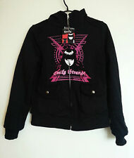 New Emily The Strange Reversible Hoodie Size Small Gothic Lolita Punk