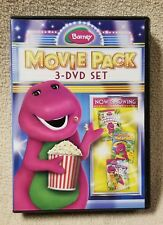 BARNEY 3 DVD Movie Pack JUNGLE FRIENDS Let's Go on Vacation ANIMAL ABC's 2012