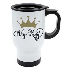 Viaje Taza - NAP King - Blanco Acero Inoxidable - divertido, Dormir, frases -