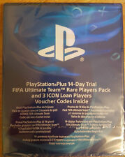 Fifa 18 Ultimate Team Rare Player Pack + 3 Icon loans + 14 day PS Plus (PS4)