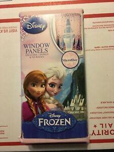 Disney Frozen Window Panels  82x63 Elsa Anna microfiber 2 panels and 2 tie set