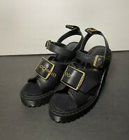 Dr Martens Granik Leather Sandal Women's US 5 Smooth Black NEW RARE