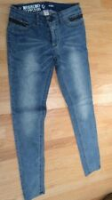 Mossimo Supply Co Jeans Juniors size 7 Skinny Pants Bottoms Side Zippers 80s