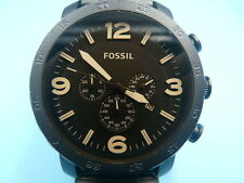 New Old Stock FOSSIL JR1356 Nate Jumbo 50mm Chronograph Date Quartz Men Watch