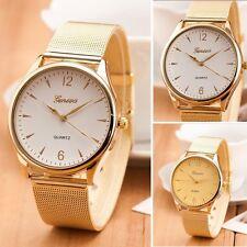Klassisch Damenuhr Gold Quarz Edelstahl Uhren Luxus Dress Armbanduhr
