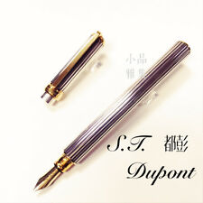 S.T. Dupont Special Edition Gatsby Silver Plated 18K nib Fountain Pen