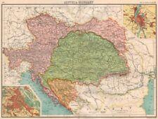 AUSTRIA-HUNGARY.Bosnia Galicia Bohemia.Vienna;Offen(Buda).BARTHOLOMEW 1898 map