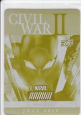Civil War II: Amazing Spider-Man #2 2016 Marvel Annual Printing Plate Yellow 1/1