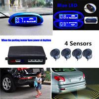 Car Parking Assistance 4 Sensors Blue LED Screen Waterproof Reverse Backup Radar