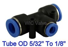 5pcs Pneumatic Reduced Tee Union Tube OD 5/32