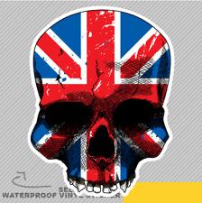 UK England Flag On A Skull Vinyl Sticker Decal Window Car Van Bike 2439