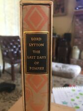 Last Days Of Pompeii By Lord Lytton~ Heritage Press Slipcase