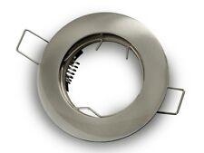 Soporte foco empotrable redondo 77mm para agujero 60mm fijo Plateado Escarchado