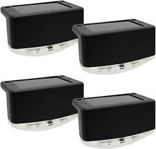 Davinci Lighting Solar Outdoor Lights for Deck Post Fence Steps, Black 4 Pack