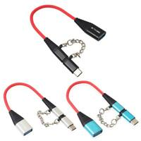 2 in 1 Type-C Male +Micro USB Male to USB 2.0 Female OTG Adapter Cable data Wire