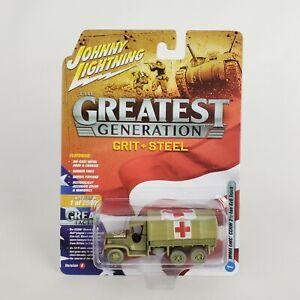 Johnny Lightning Greatest Gen WWll GMC CCKW 2.5 Ton 6x6 Truck Medic New