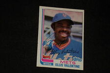 ELLIS VALENTINE 1982 TOPPS SIGNED AUTOGRAPHED CARD #15 NEW YORK METS