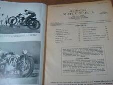 1946 Australian MOTOR Sports.Vol.1.No.1.First 11 issues.CAR RACING.Bound Book