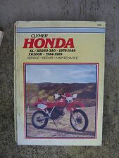 1978 - 1989 Honda XL/ XR 250 - 350 XR 200R Motorcycle Service Manual Clymer  U