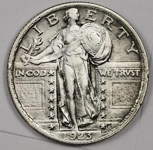 1923 Standing Liberty Quarter.  AU.  162904