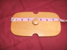 """Longaberger 8"""" X 4"""" Rectangle Wooden Lid New, Never Used"""