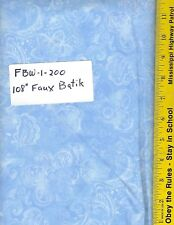 "FBW 1-200, 108"" EXTRA WIDE QUILT BACKING BTY: FAUX BATIK LOOK, BABY BLUE"