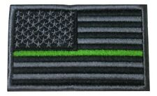 Thin Green Line USA Flag Army Sheriff Agent Patrol Park Ranger Hook Loop Patch