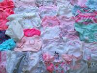 ADORABLE Baby Girl Clothes Lot 75 pc outfits Size Newborn sz 0-3 3 3-6 mo