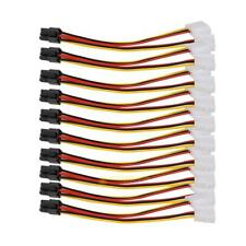 10PCS Molex (4 Pin) to PCI-E (6 Pin) Power Converter Adapter Connector SS6