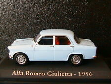 ALFA ROMEO GIULIETTA 1956 LIGHT BLUE RBA COLLECTABLES 1/43 BLEU CIEL ITALIA