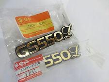 Suzuki GS550L nos tank badge set 1979-1982    68131-47500