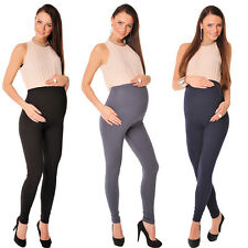 Stretchy Maternity Leggings Over Bump Full Length HQ Size  8 10 12 14 16 18 1050