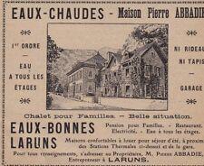 1908  --  EAUX CHAUDES   MAISON PIERRE ABBADIE   3B837