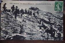 Cpa carte postale dauphiné alpins en manoeuvre batterie militaires 1912