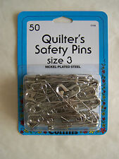 """2"""" Quilter's Safety Pins 50 pc Sz 3 Collins C133"""