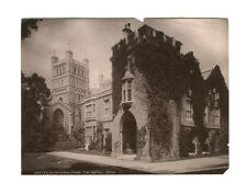 c1880 Exeter Cathedral from the South, Cloister Door, Bishop's Palace Albumen