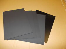 5 PIECES BLACK KYDEX SHEET  297 X 210MM A4  ASSORTED THICKNESS