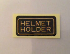 HONDA GB500TT HELMET HOLDER CAUTION WARNING LABEL DECAL
