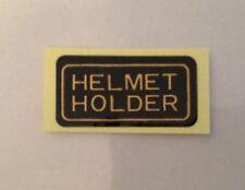 HONDA CBR900RR FIREBLADE HELMET HOLDER CAUTION WARNING LABEL DECAL